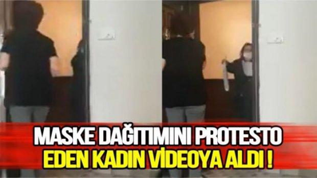 Bir vatandaş ücretsiz dağıtılan maske hizmetini reddetti