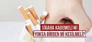 Sigara kademeli mi birden mi kesilmeli?